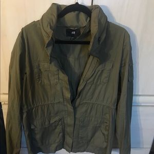 H&M ✨ Army Green Utility Jacket 🧥 Size 12